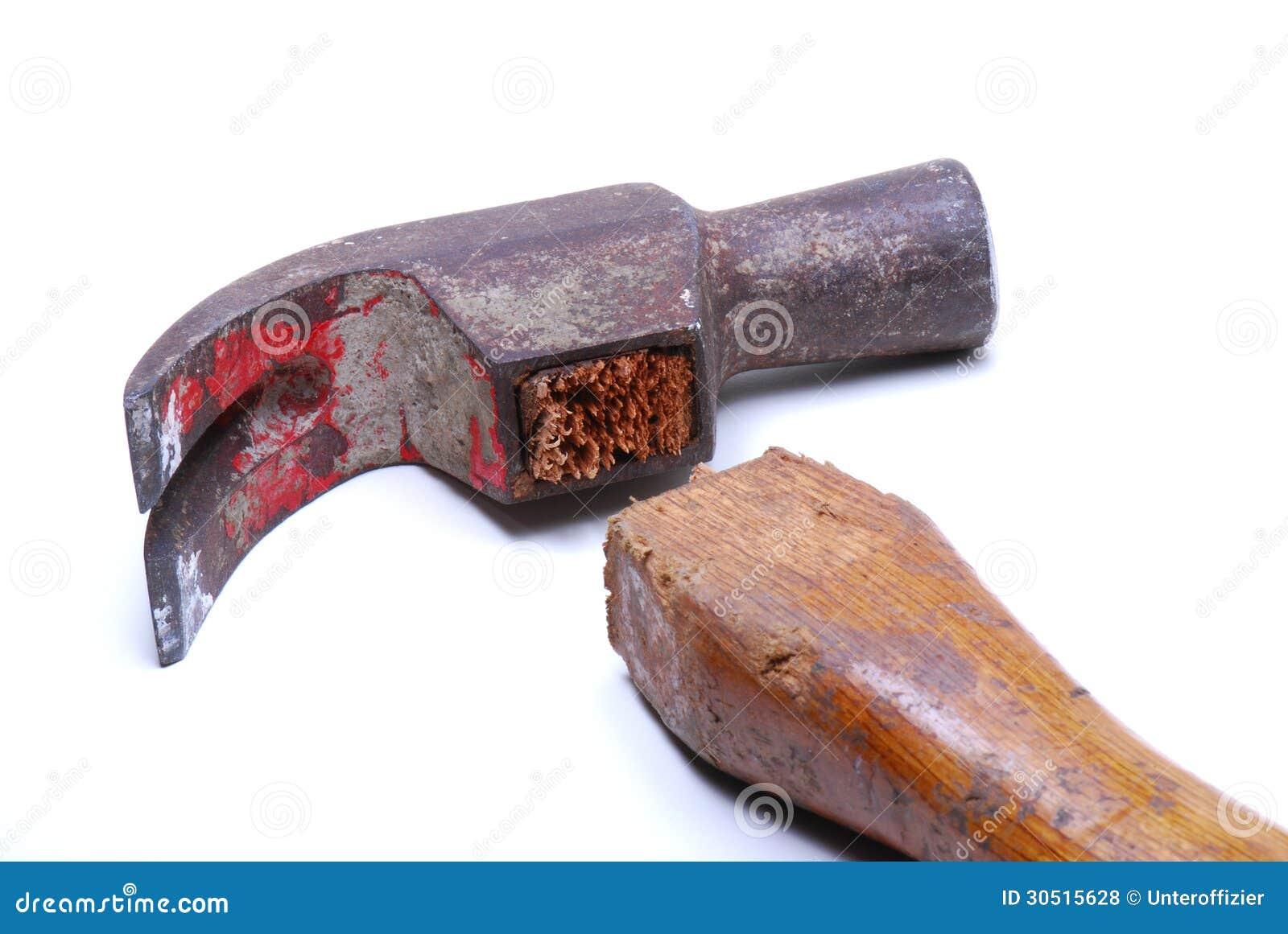 Defekter Tischlerhammer