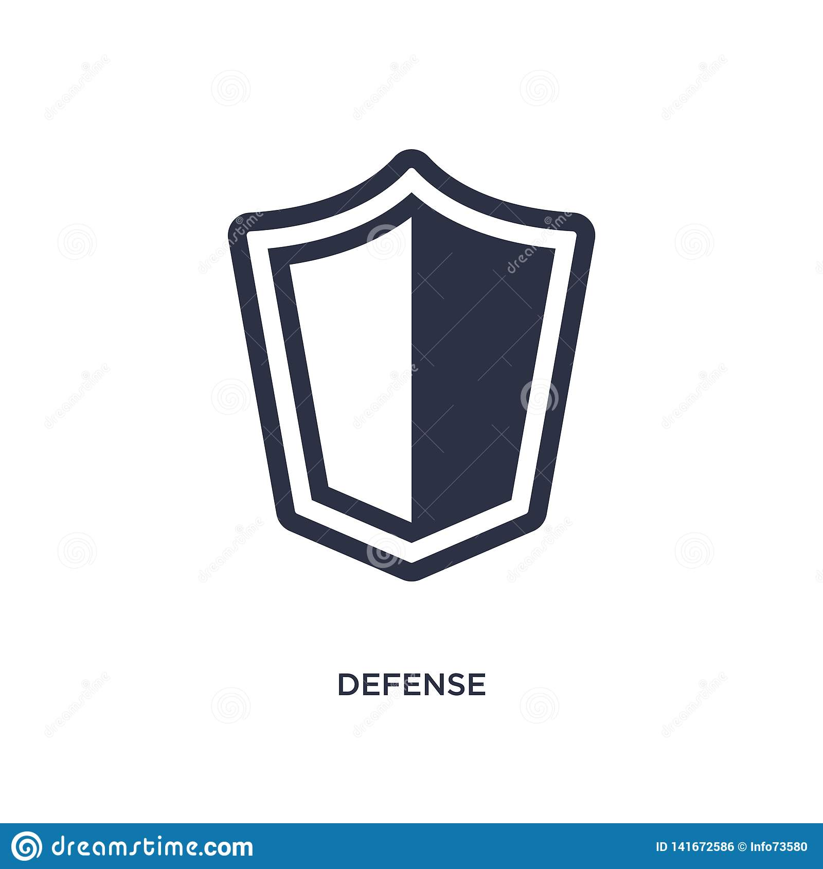 defense icon on white background. Simple element illustration from law and justice concept