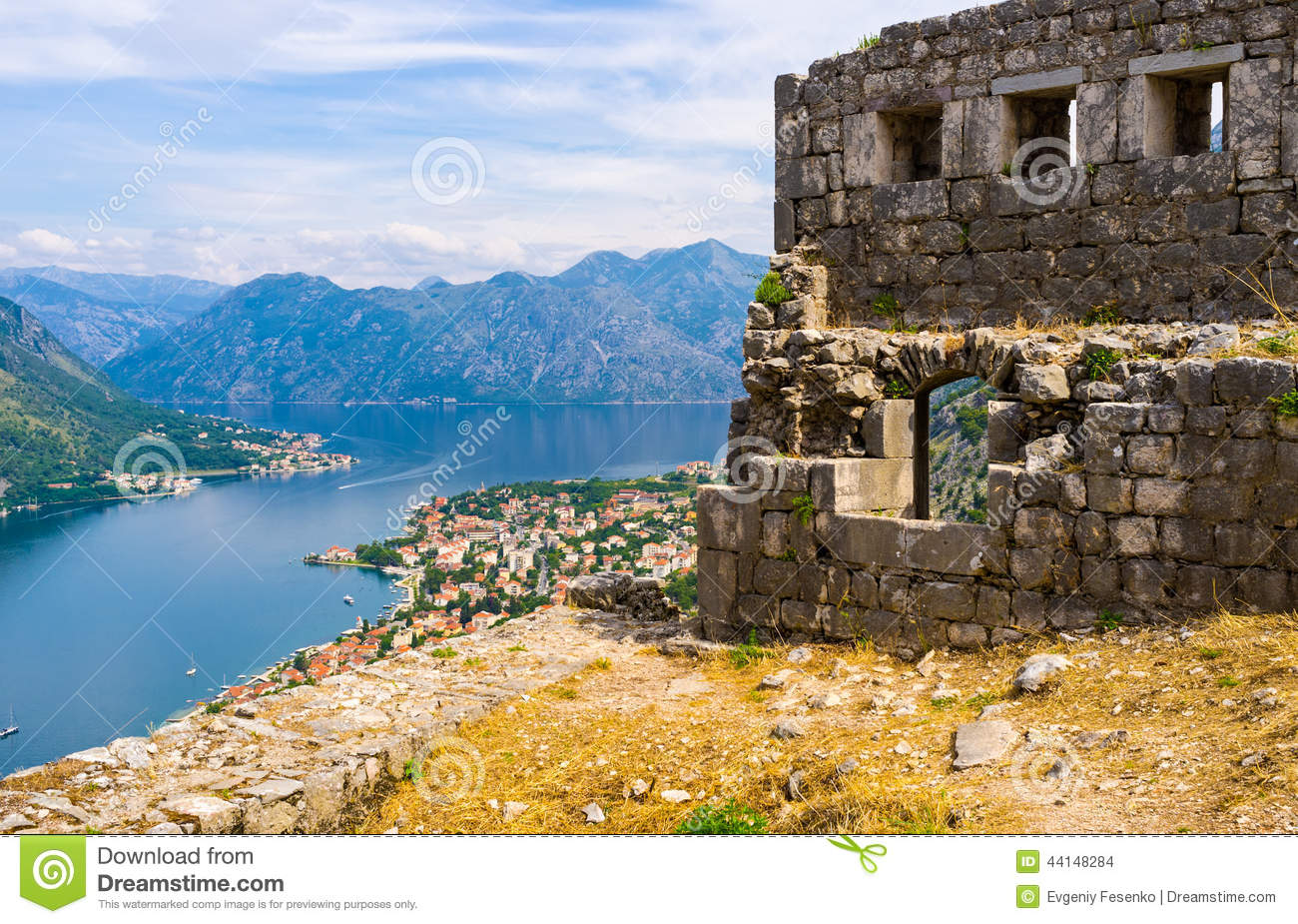 Download The defensive fortress stock photo. Image of montenegro - 44148284