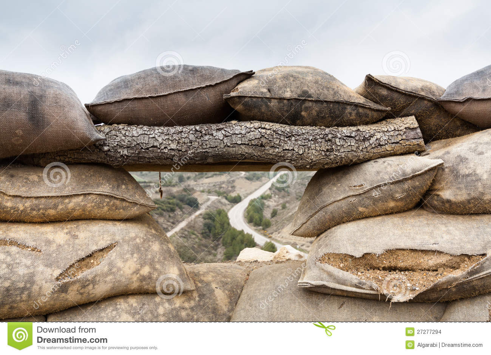 Defensivt stridighetpos. i Alcubierre, Spanien