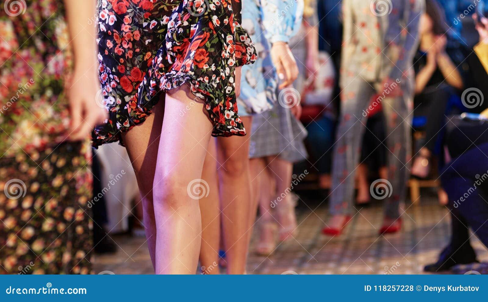 Defile on fashion week