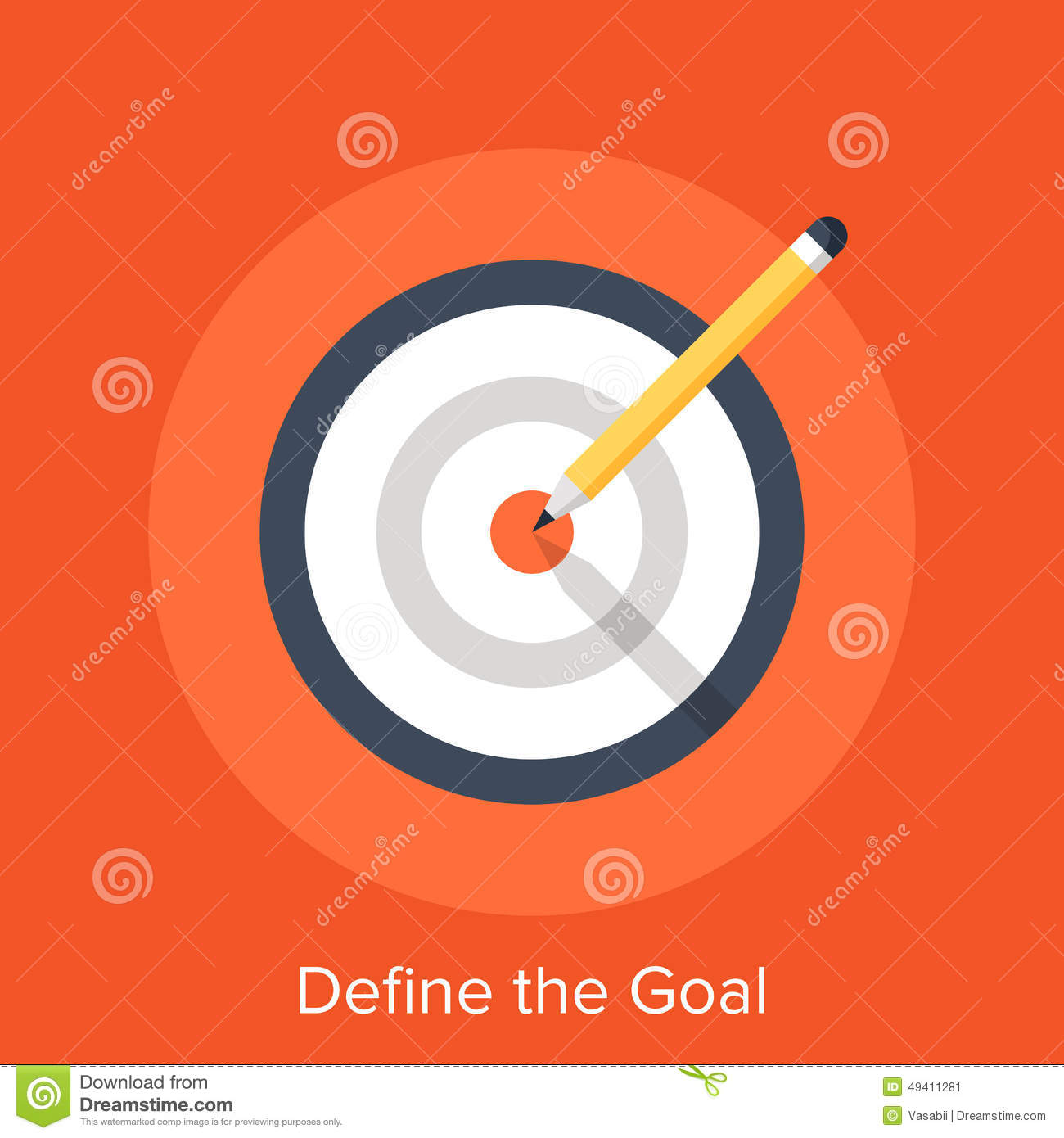 Vector illustration of define the goal flat design concept.: www.dreamstime.com/stock-photo-define-goal-vector-illustration-flat...