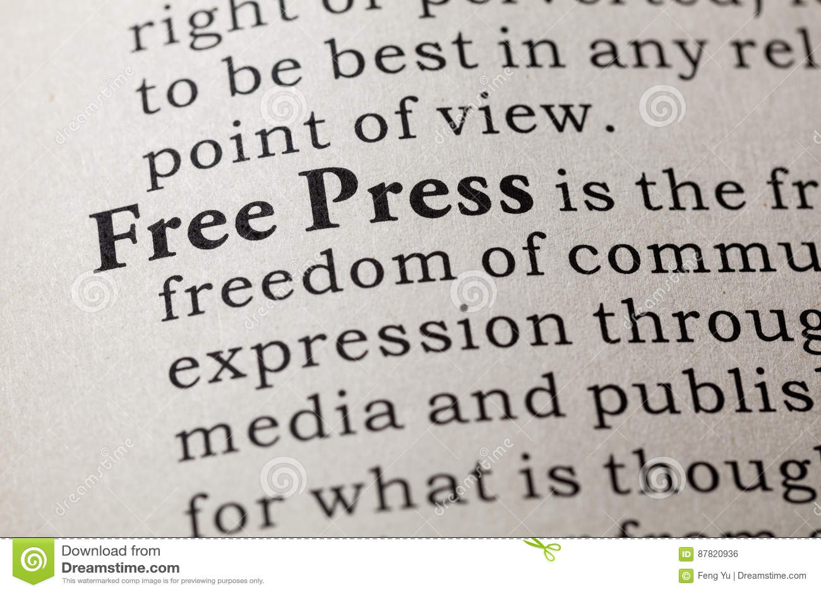Definição da imprensa livre