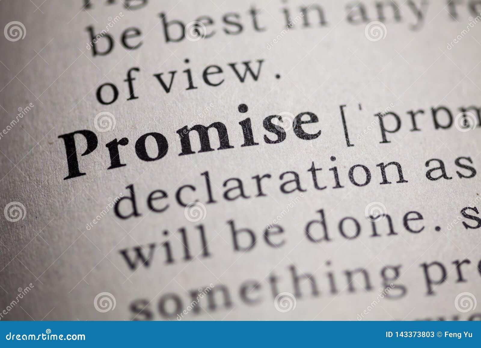 Defini??o da promessa da palavra