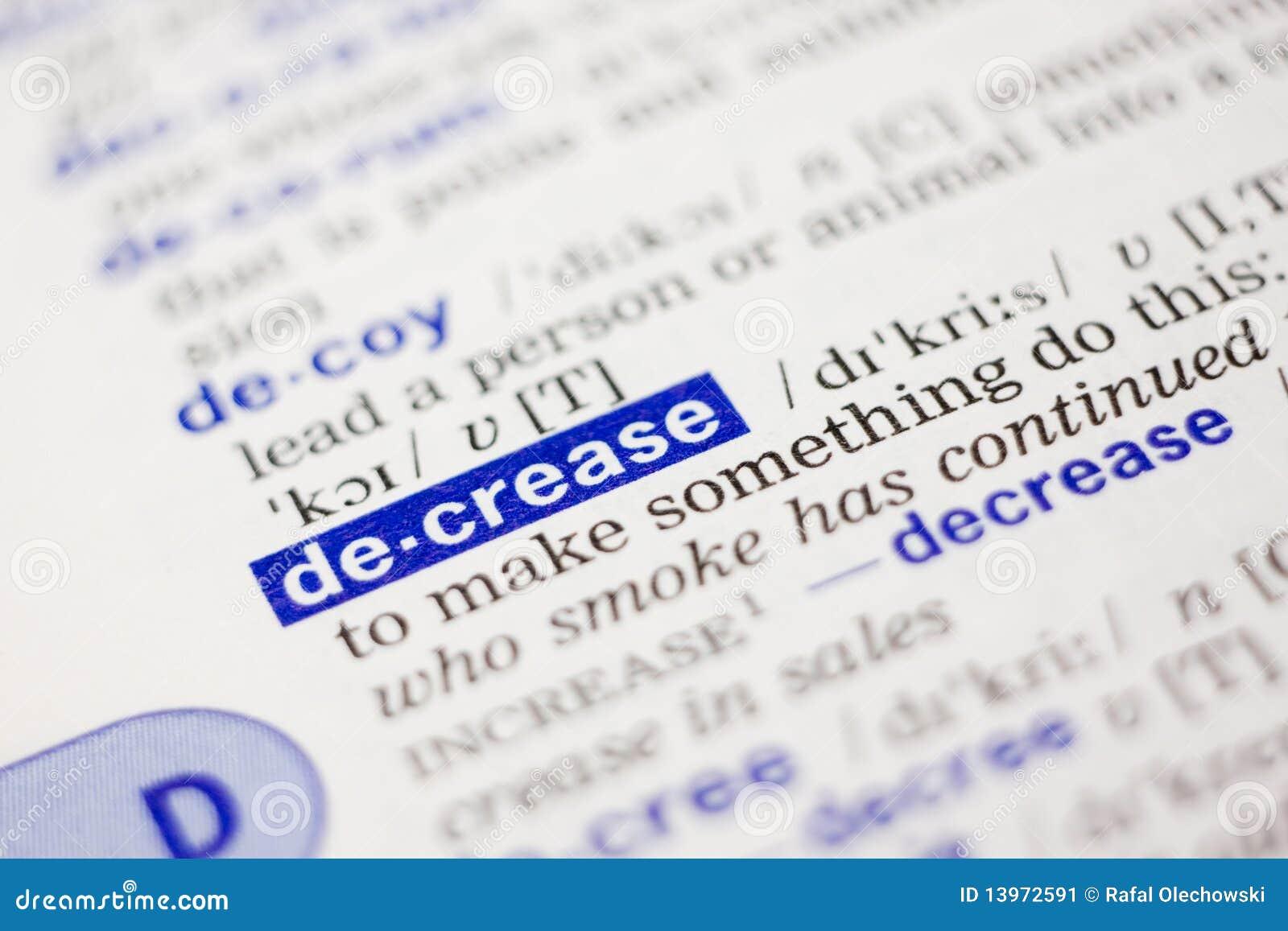 Definição de dicionário da diminuição da palavra no azul