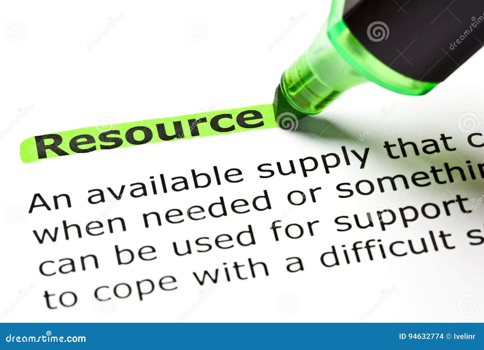 Definição do recurso