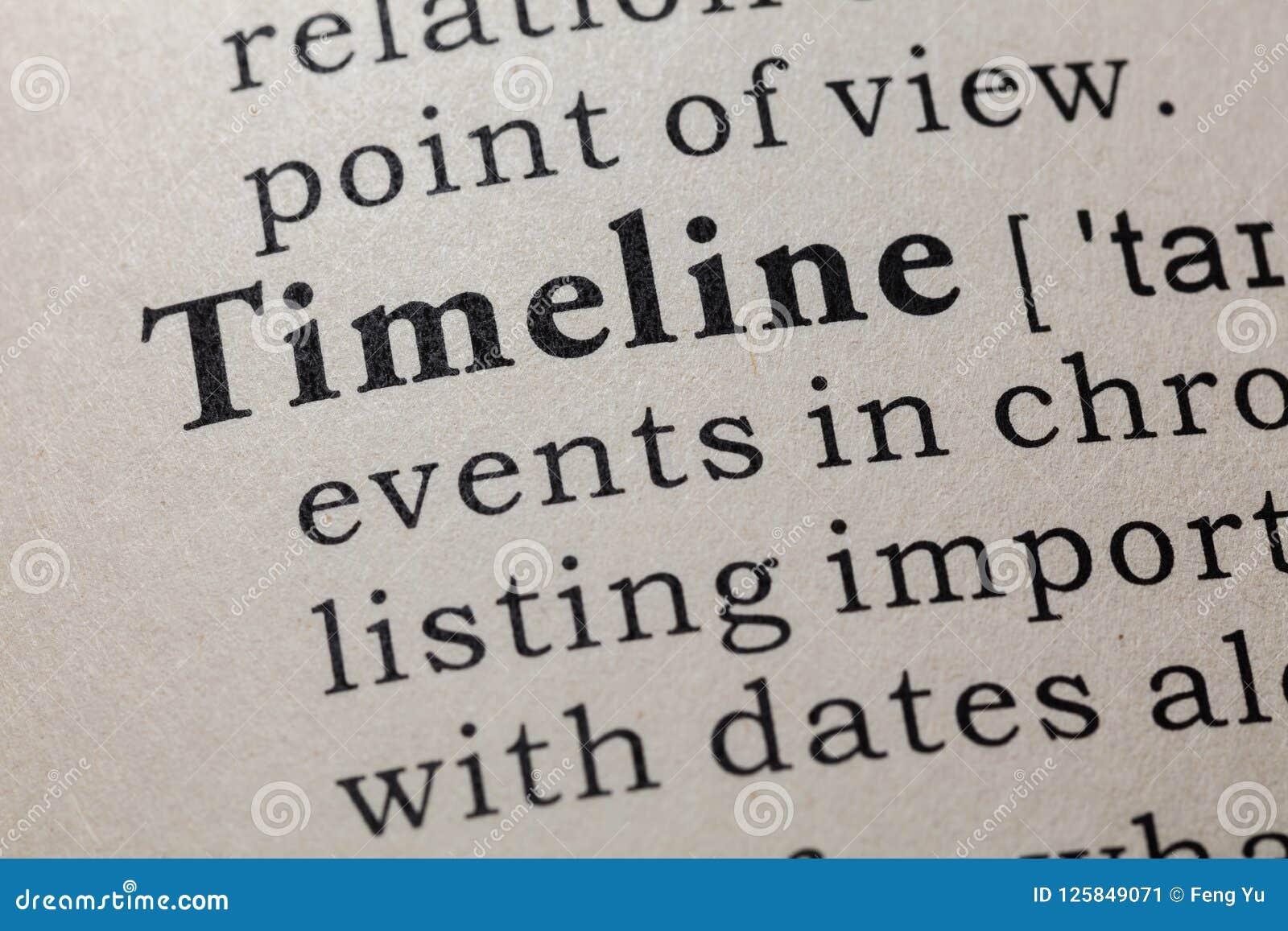 Definición de la cronología