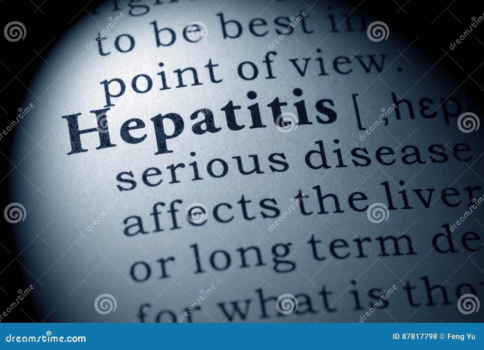 Definición de la hepatitis