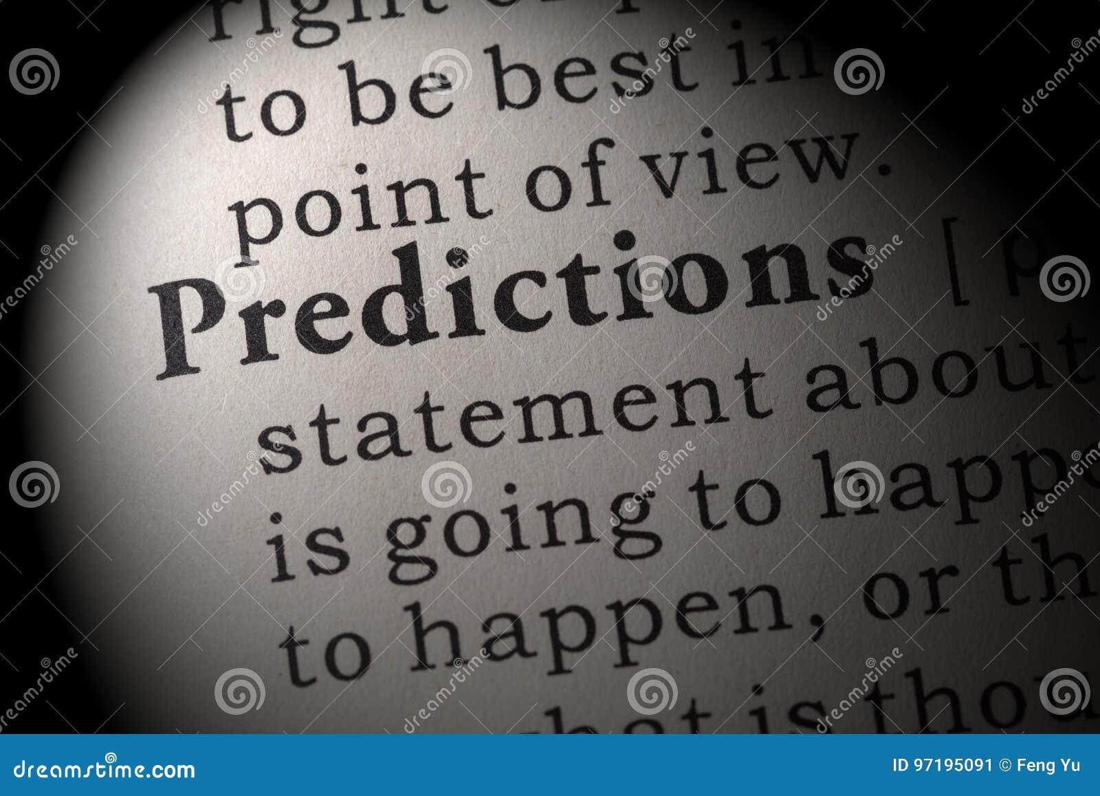 Definición de predicciones