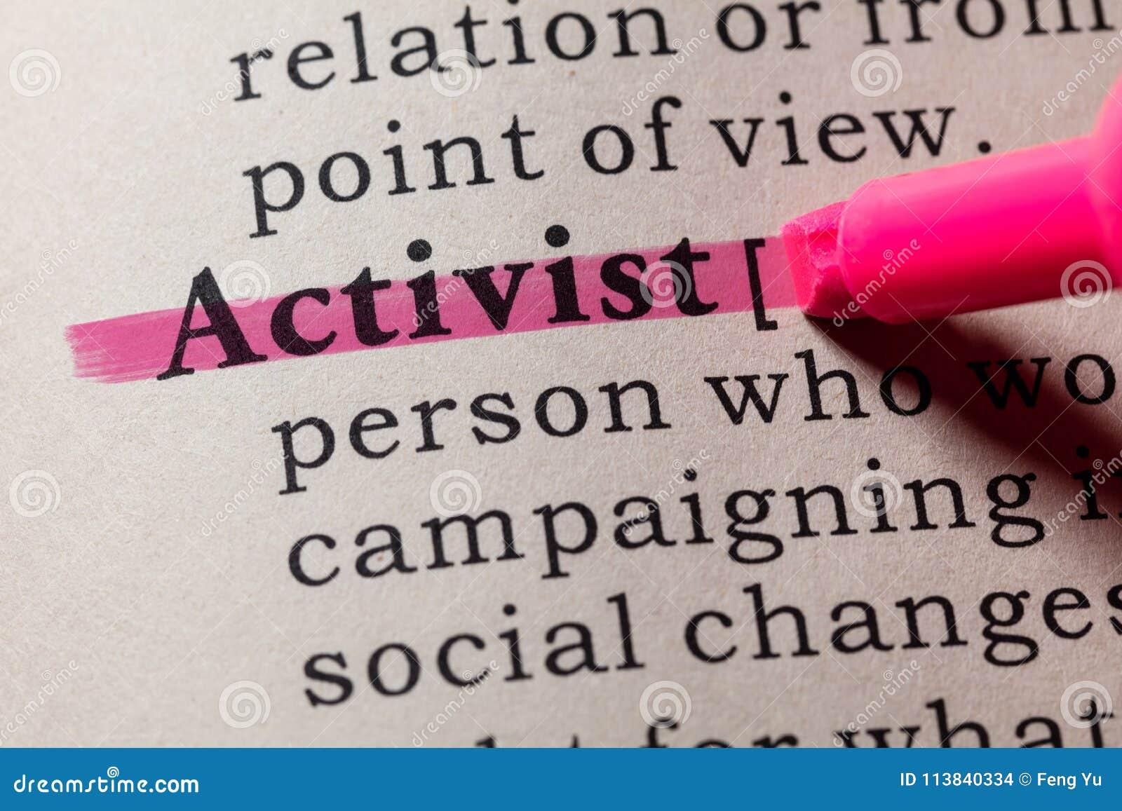 Definición del activista