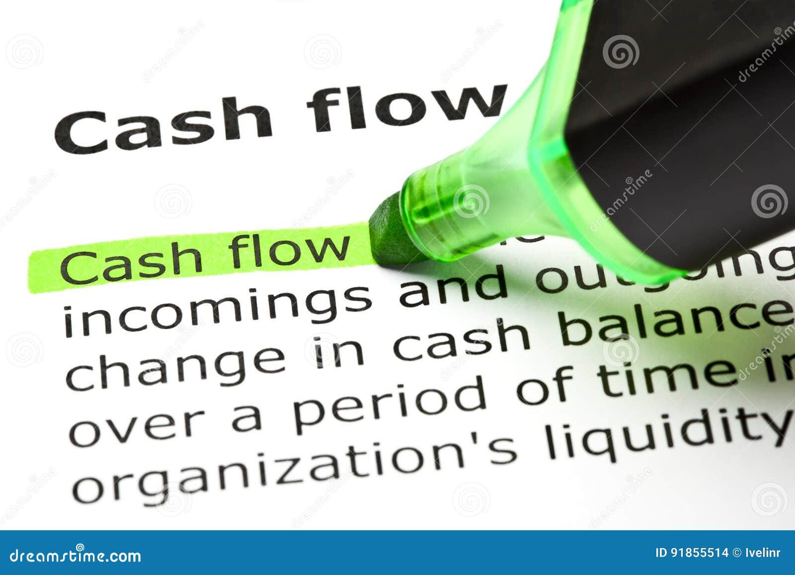 Definitie van Cash flow