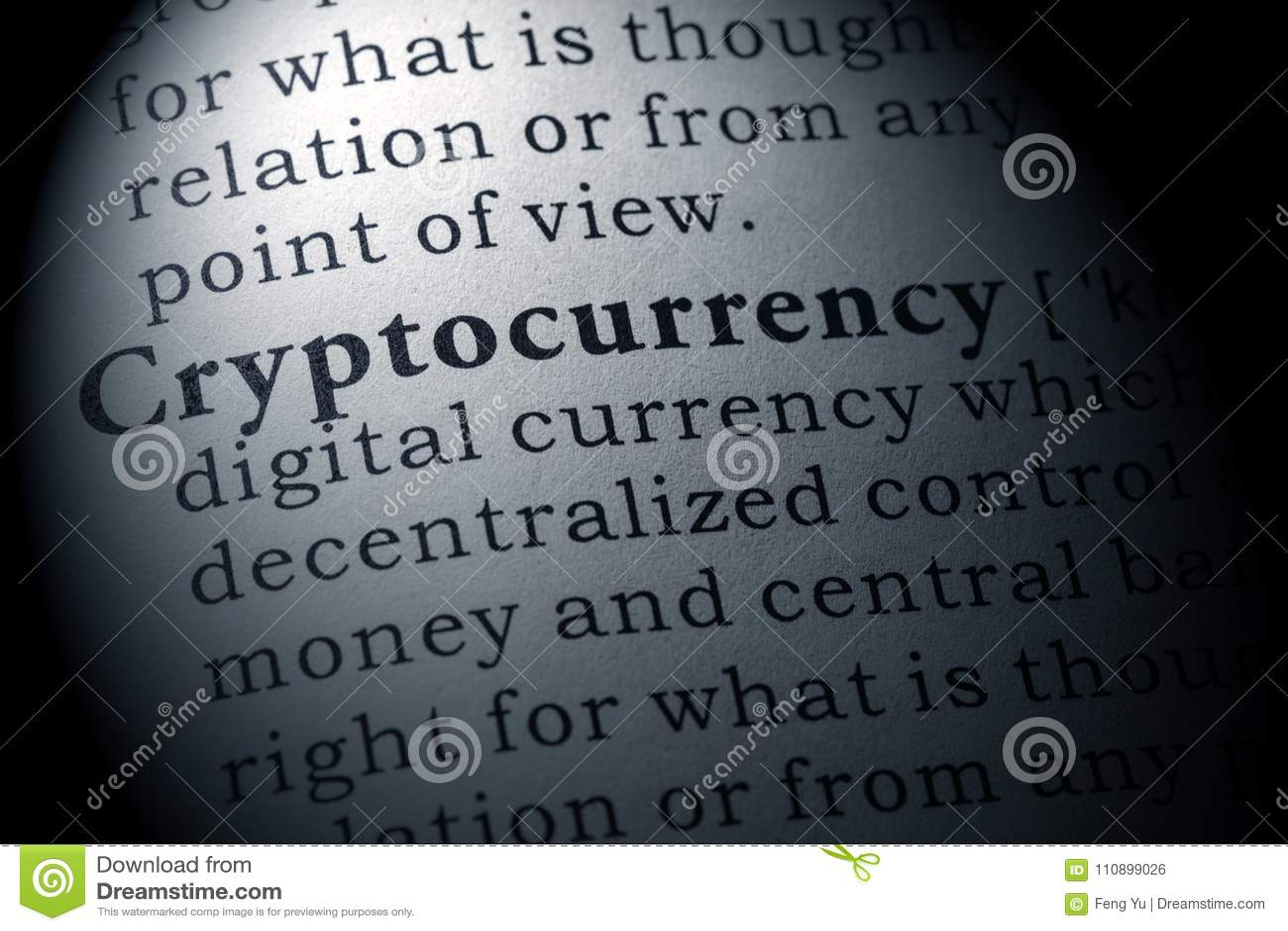 Definitie van cryptocurrency