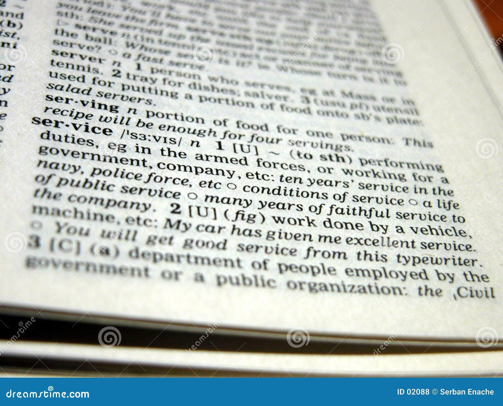Definitie van de diensten