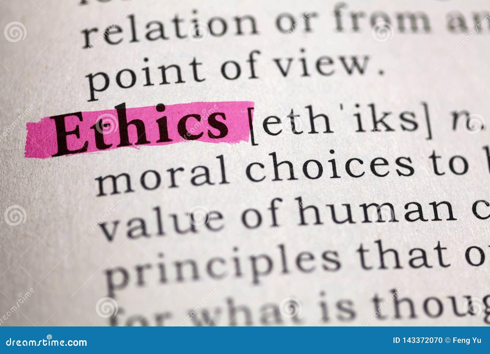 Definitie van de Word Ethiek