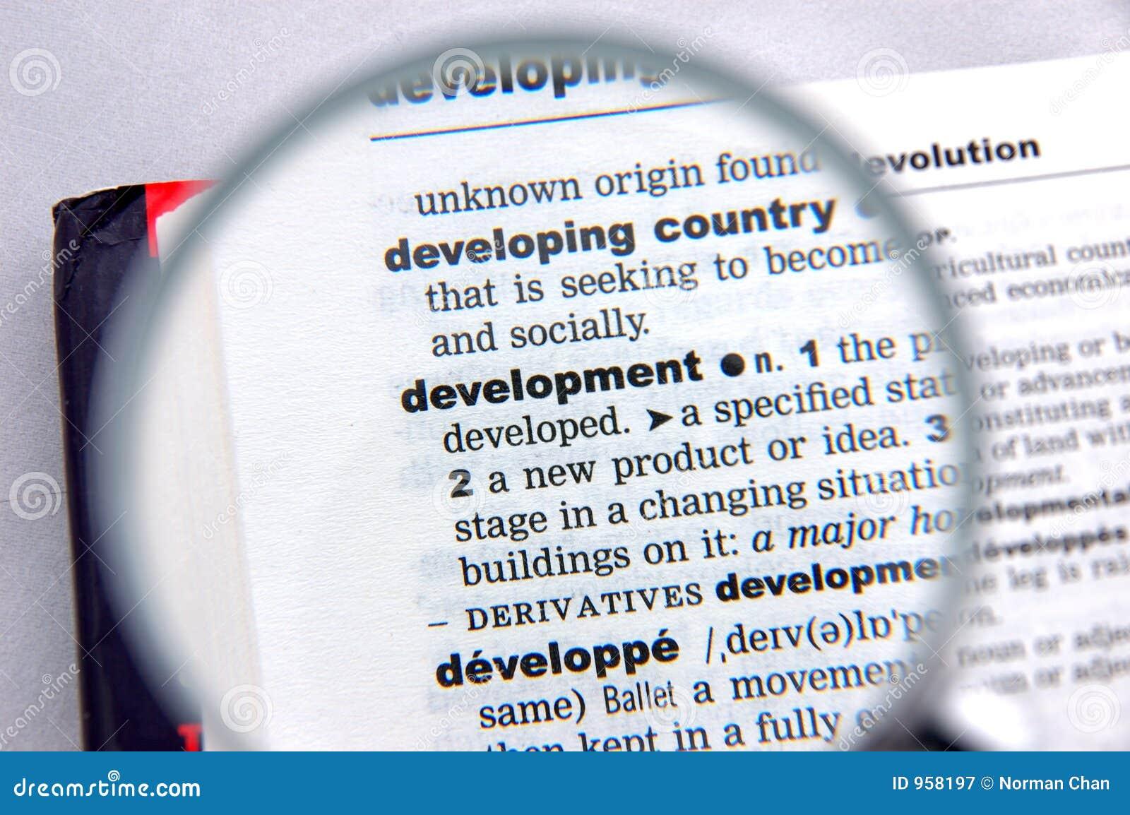 Definitie van ontwikkeling