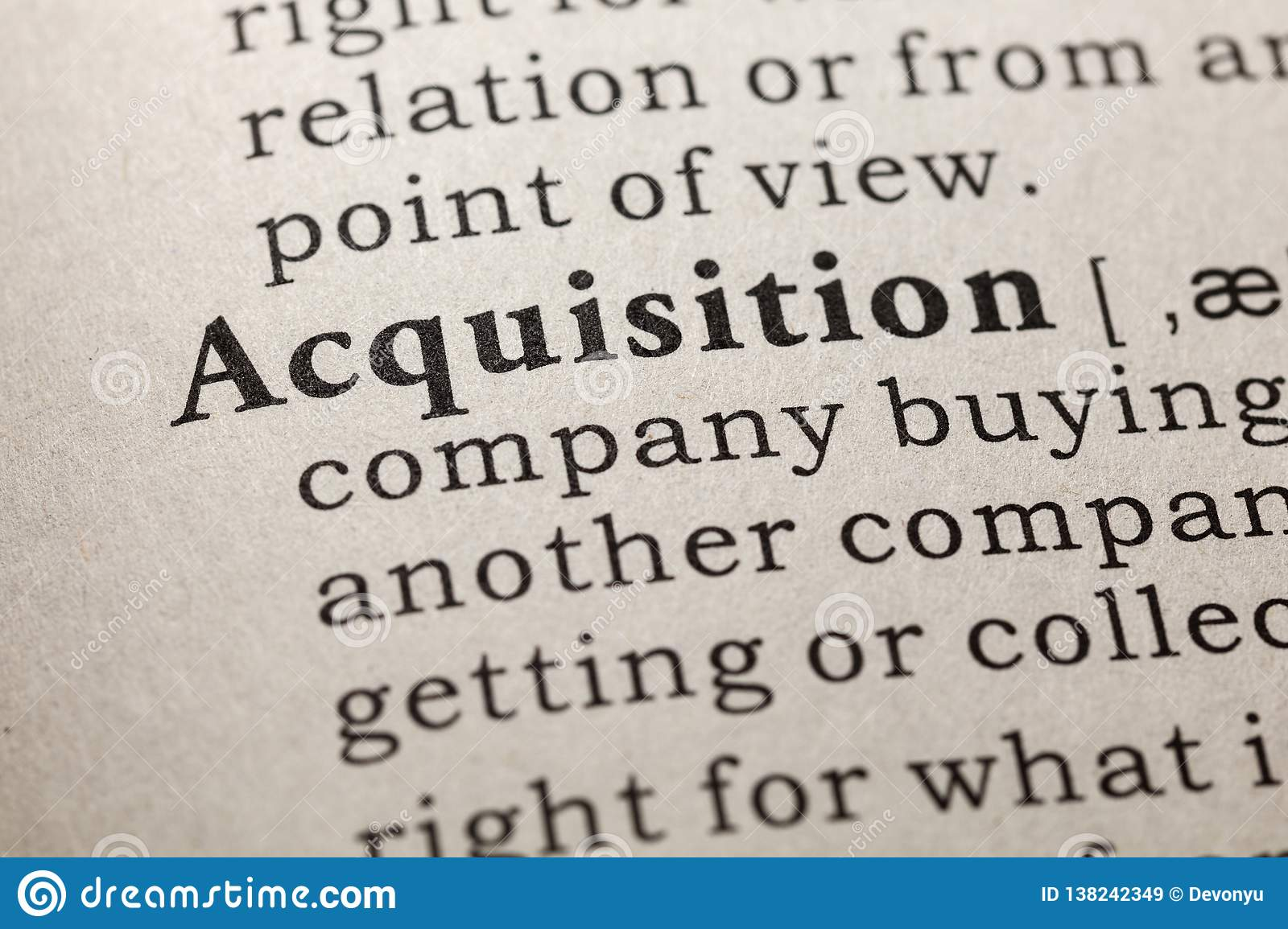 Definition of acquisition