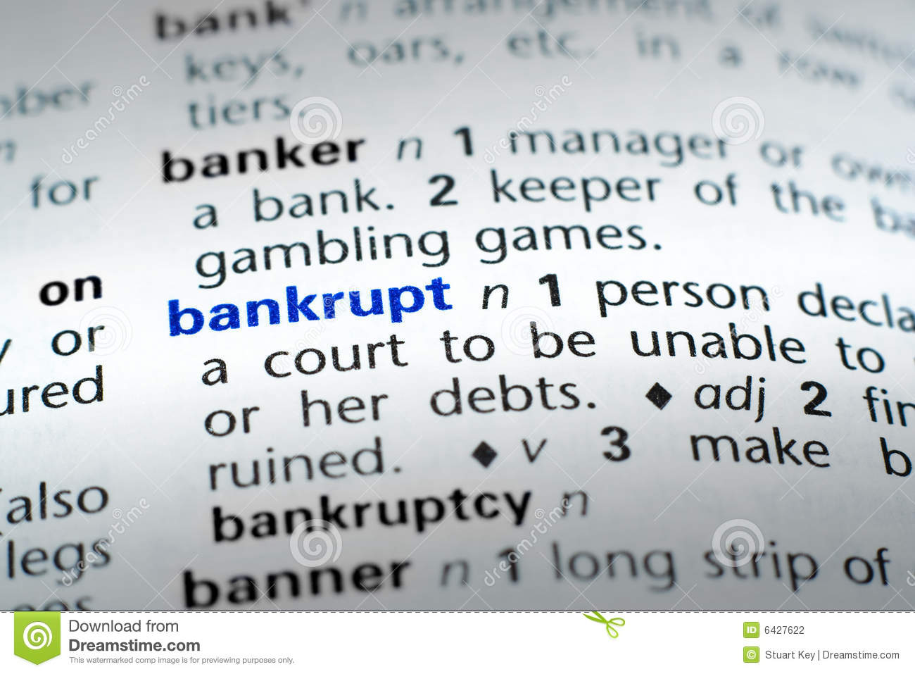 definition of bankrupt stock photo. image of home, blue - 6427622