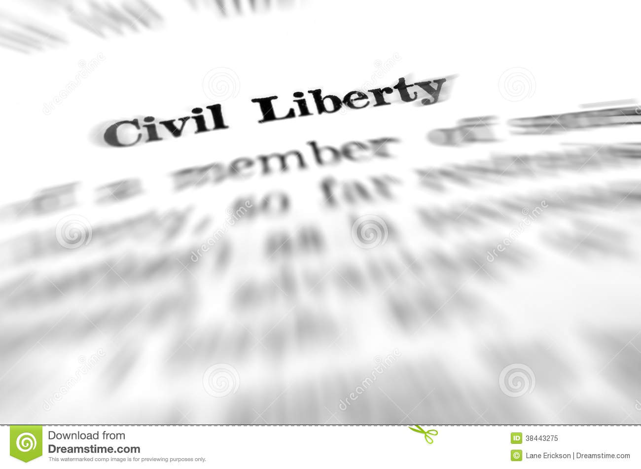 definition of civil liberty and law stock image - image of business