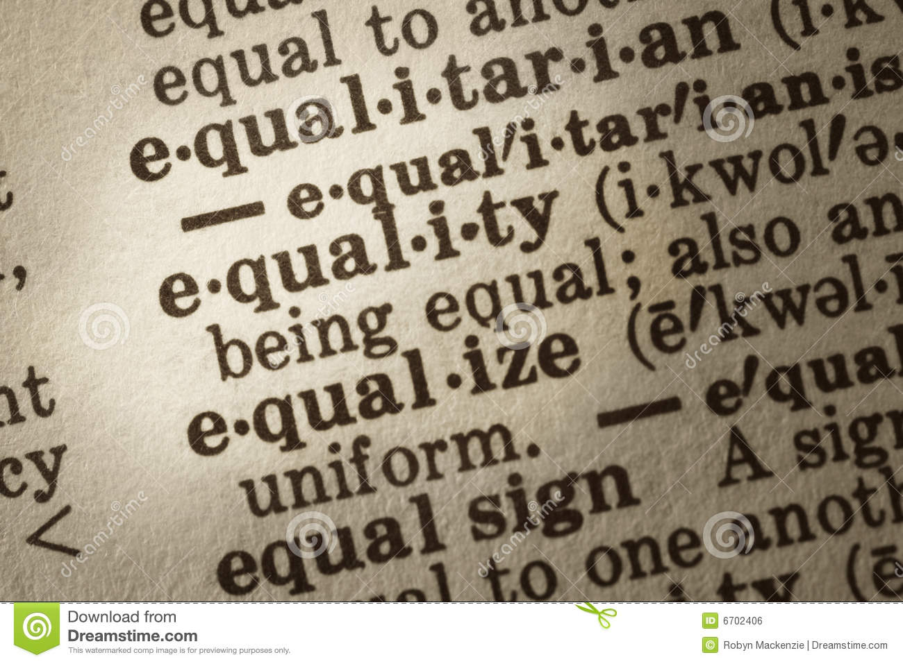define equality Equality is about 'creating a fairer society, where everyone can participate and has the opportunity to fulfil their potential' (doh, 2004) by eliminating prejudice and discrimination, the.