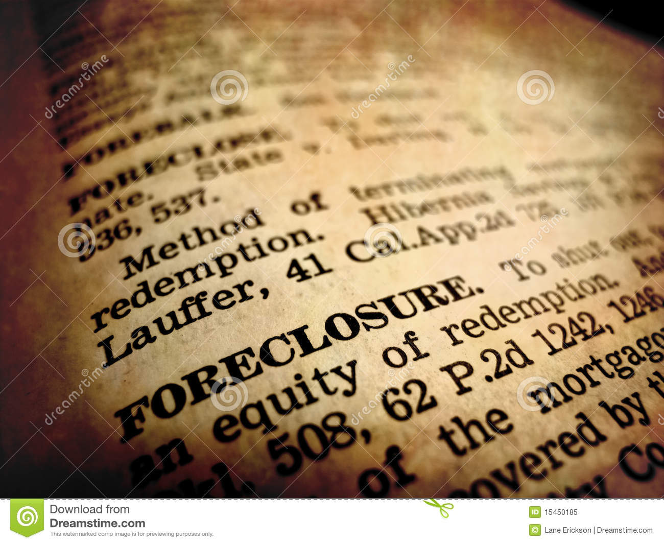 definition of foreclosure stock image. image of busted - 15450185