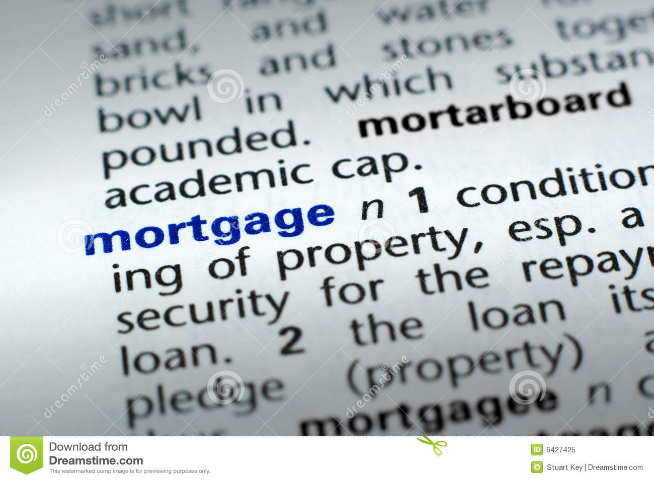 Definition Of Mortgage Royalty Free Stock Photo - Image ...