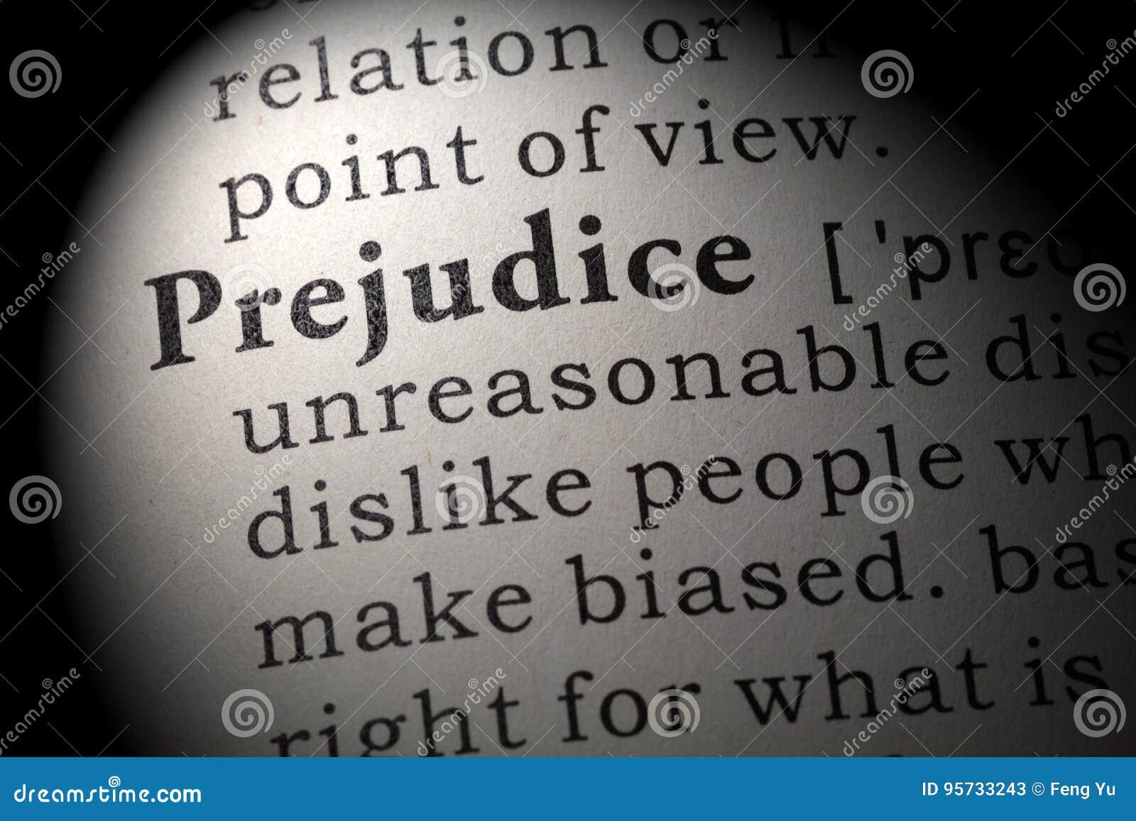 definition of prejudice stock image. image of prejudice - 95733243