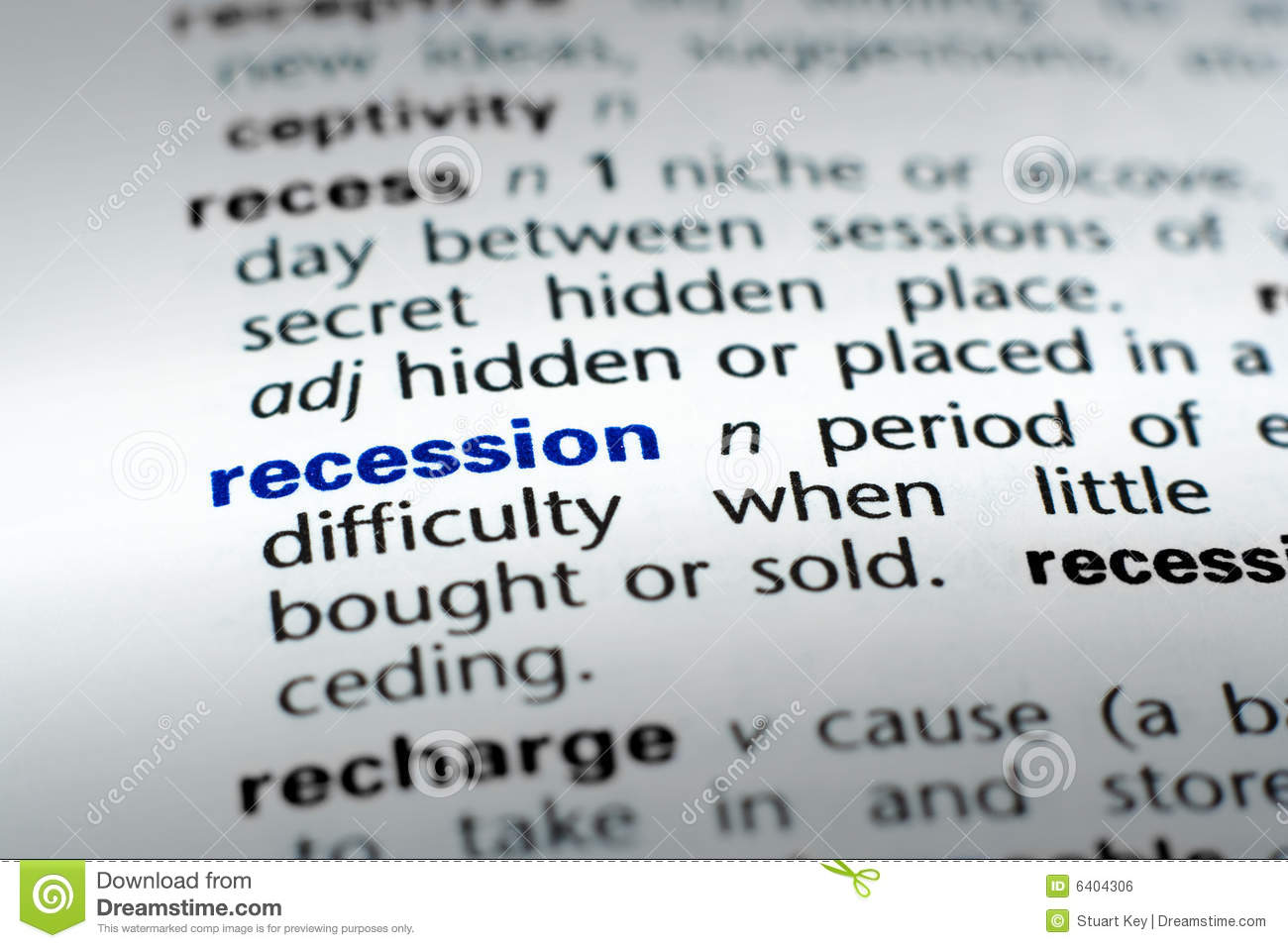 definition of recession stock photo. image of downfall - 6404306