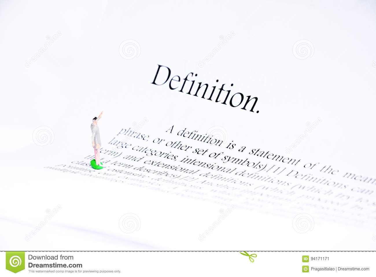 Definition text focus word background