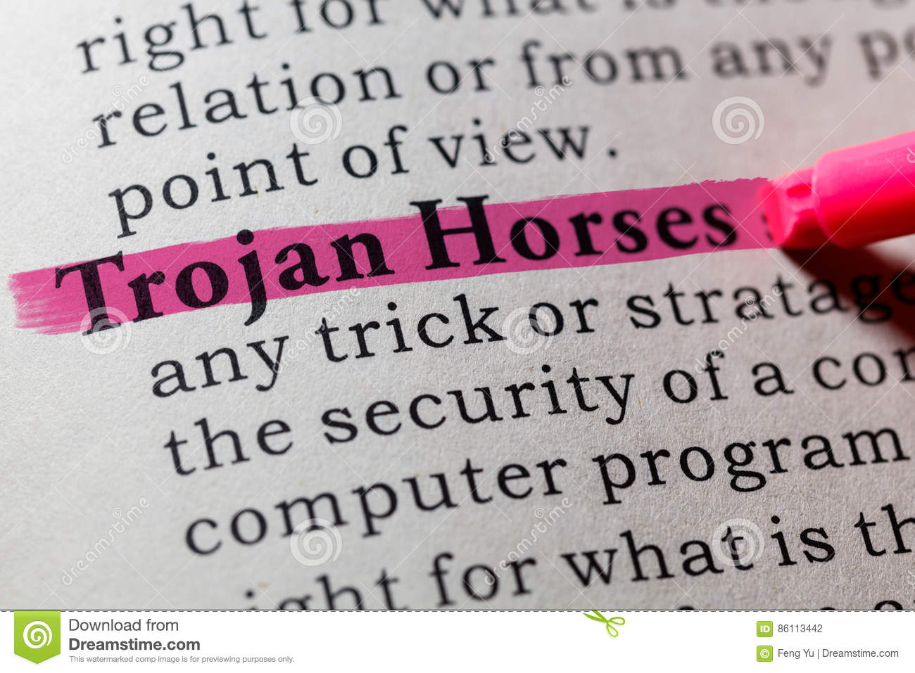 Definition Of Trojan Horses Royalty-Free Stock Photography ...