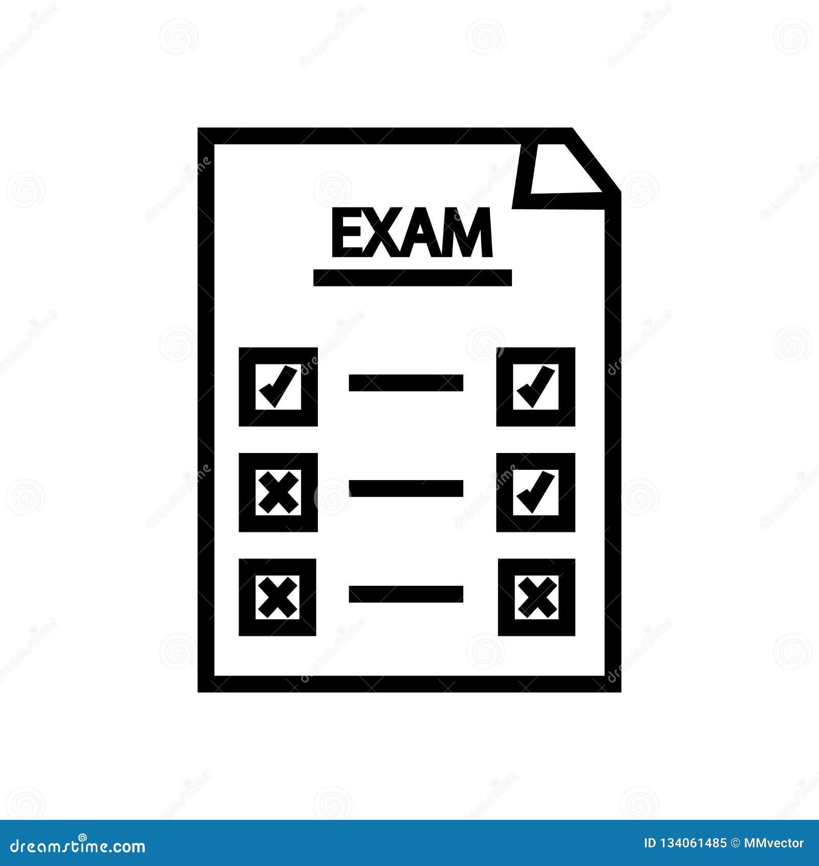 Definitywnego testa ikony wektor odizolowywający na białym tle, Definitywnego testa znak, liniowy symbol i uderzenie projekta ele