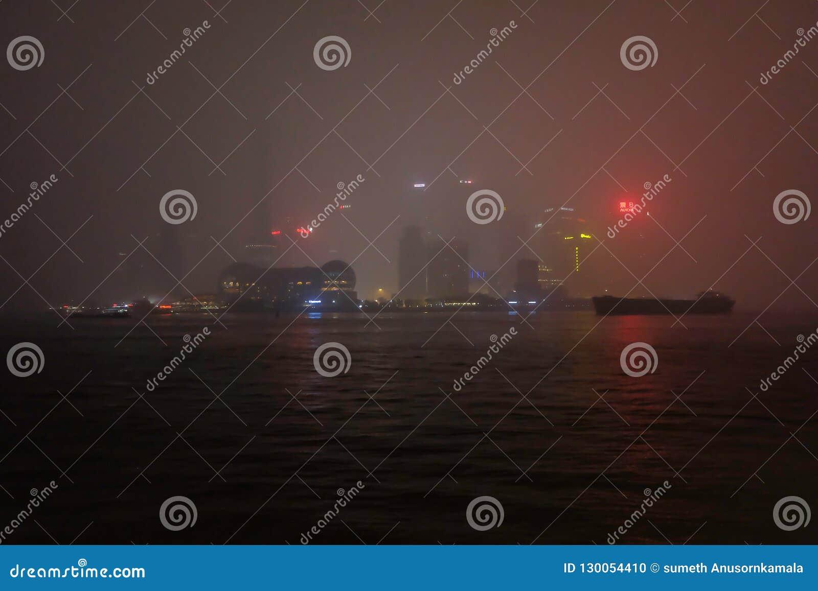 Defocus sikt av bunden Shanghai