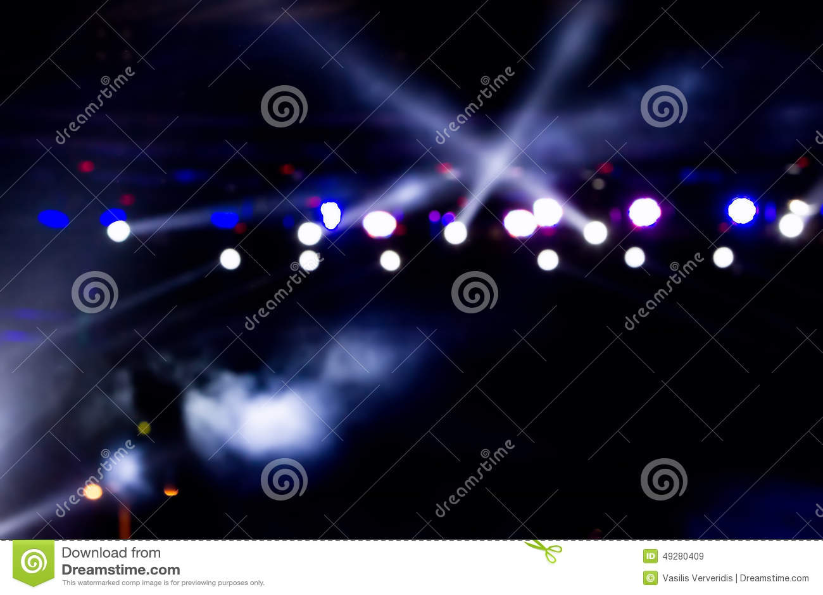 Defocused освещение концерта развлечений на этапе, bokeh