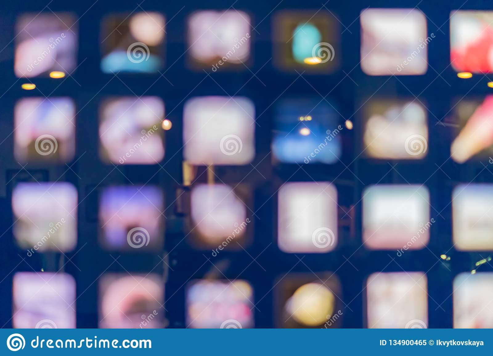 Defocused Abstract Multicolored Bokeh Lights Background  Square