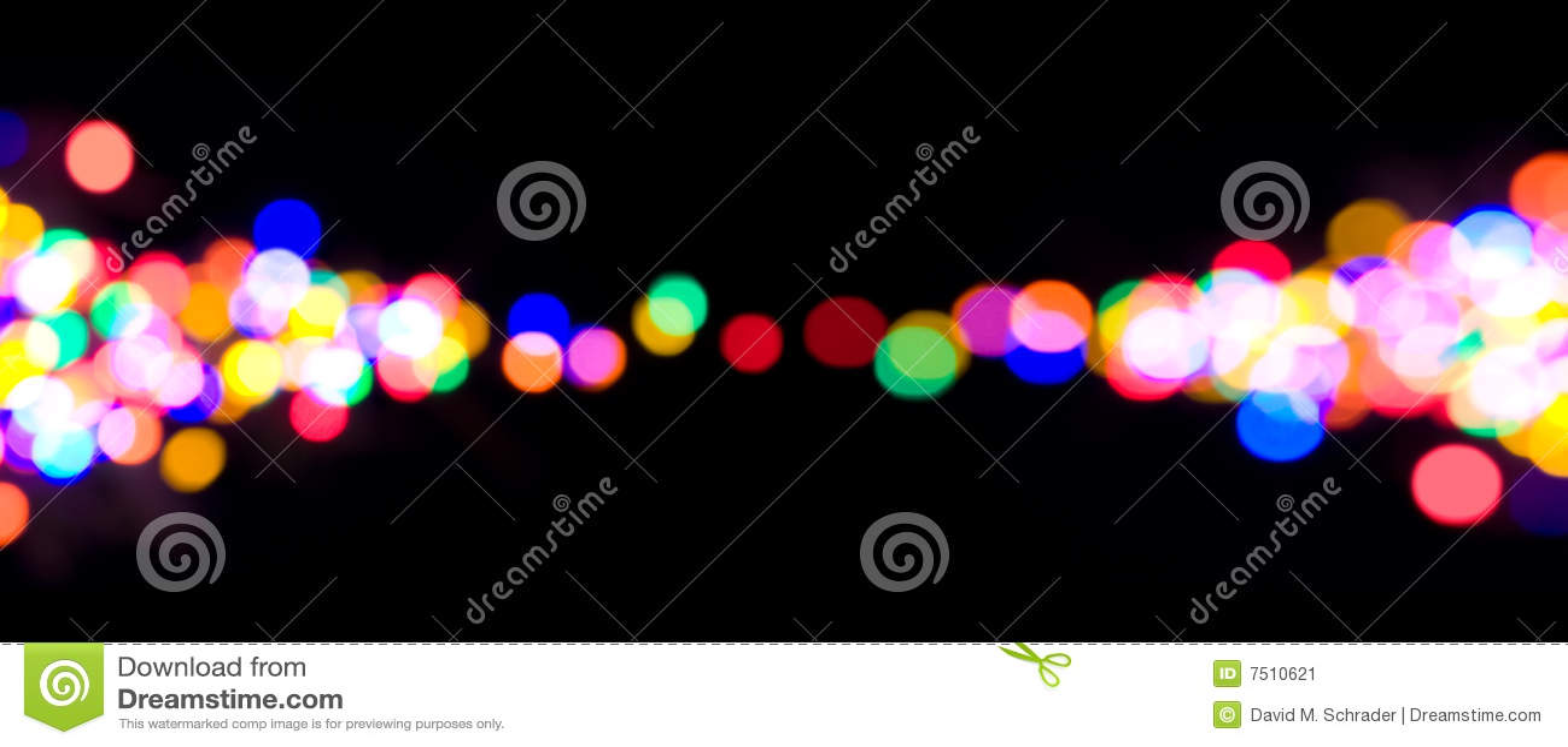 Defocused lampor för jul