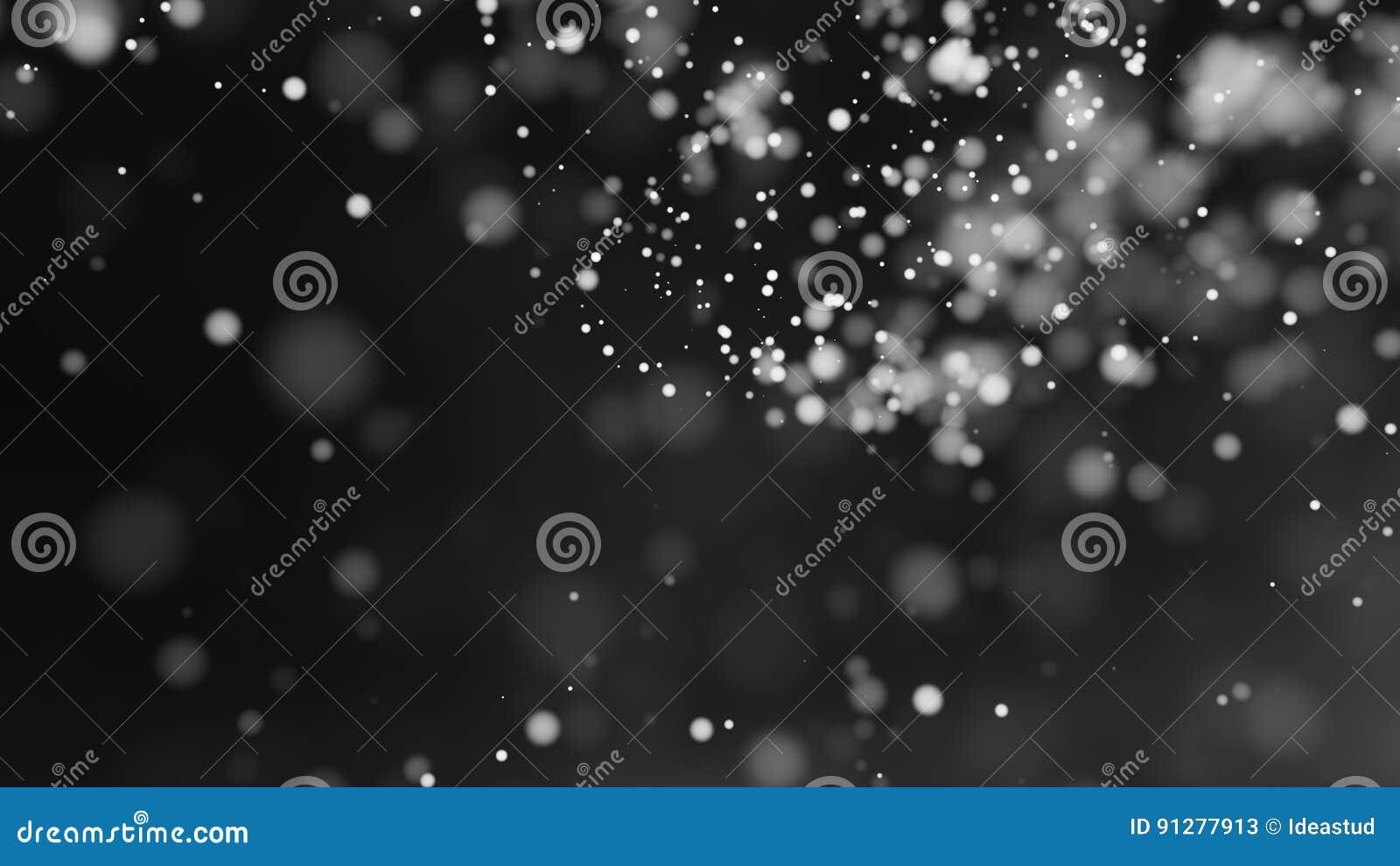 Defocused ljus för härlig monokrom bakgrund för bokeh suddig
