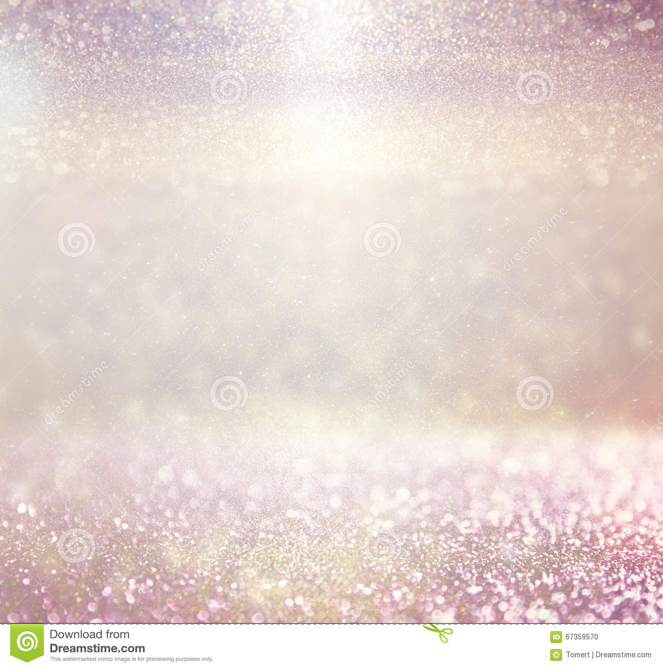 Defocused pink purple and gold lights background photo