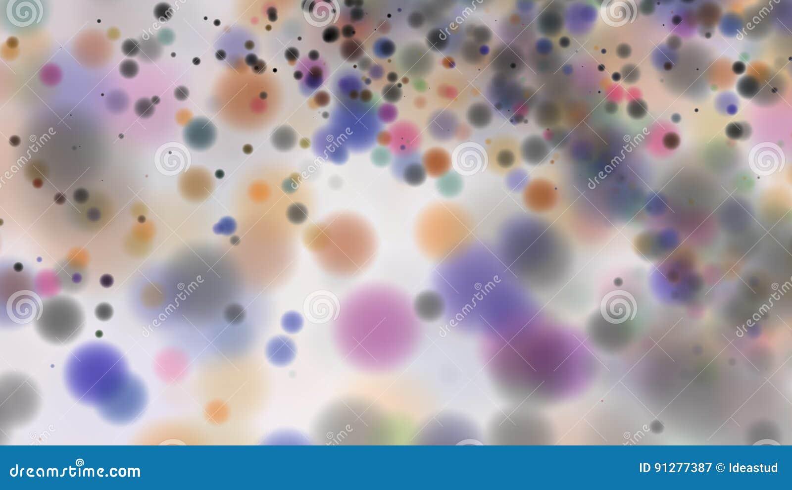 Defocused prickar för härlig färgrik bakgrund för bokeh suddig