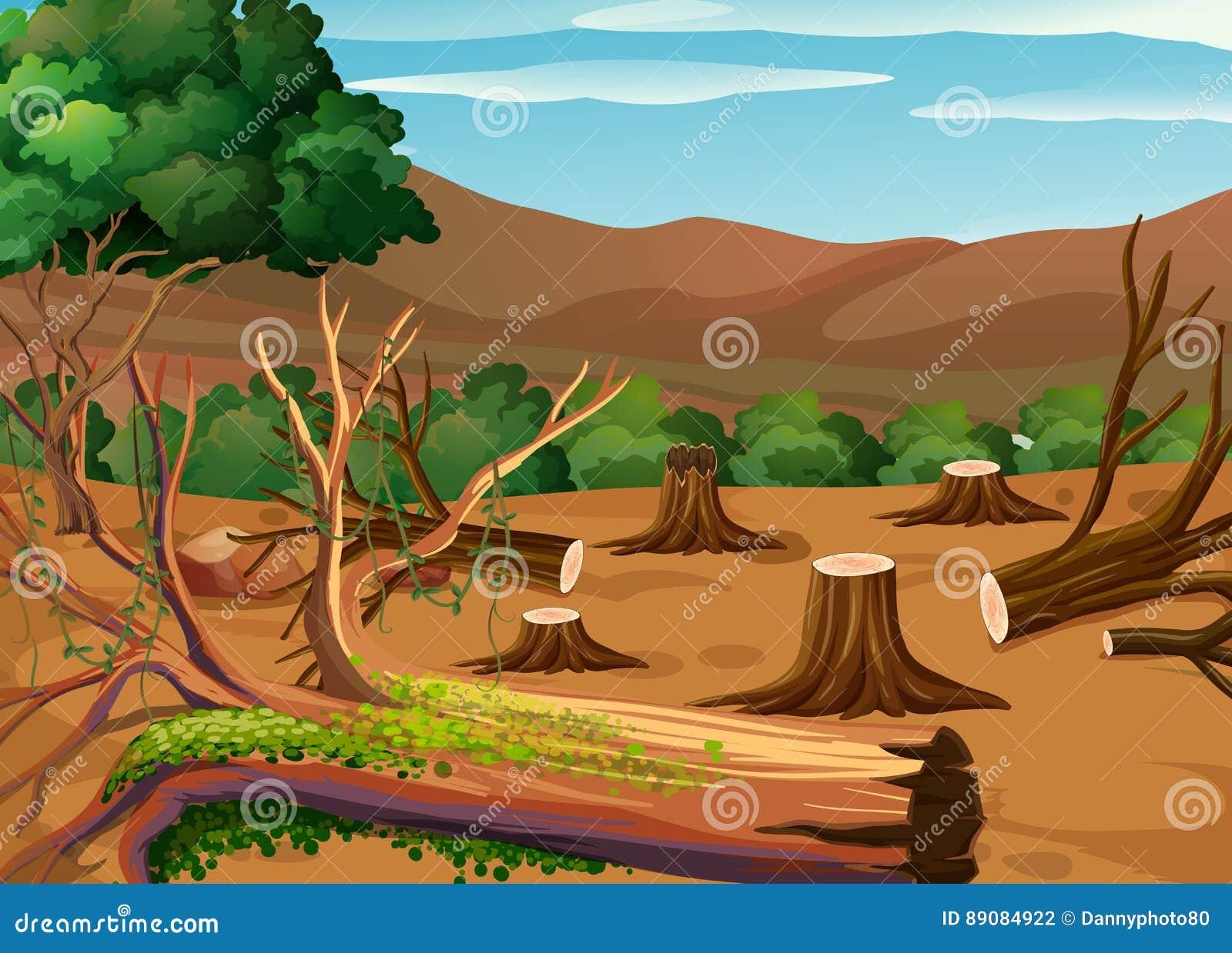 deforestation cartoons illustrations amp vector stock