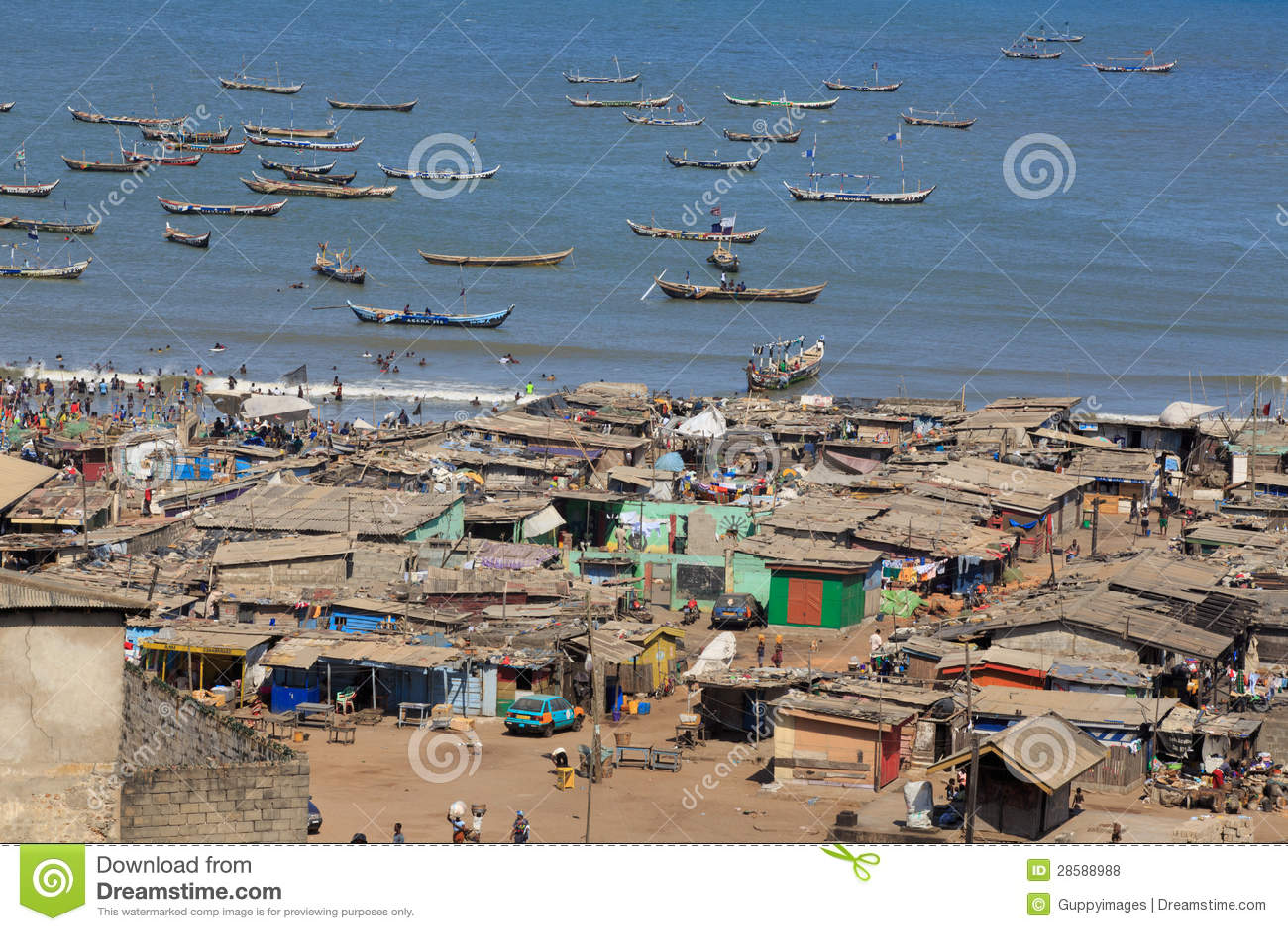 Degradado de Jamestown na praia