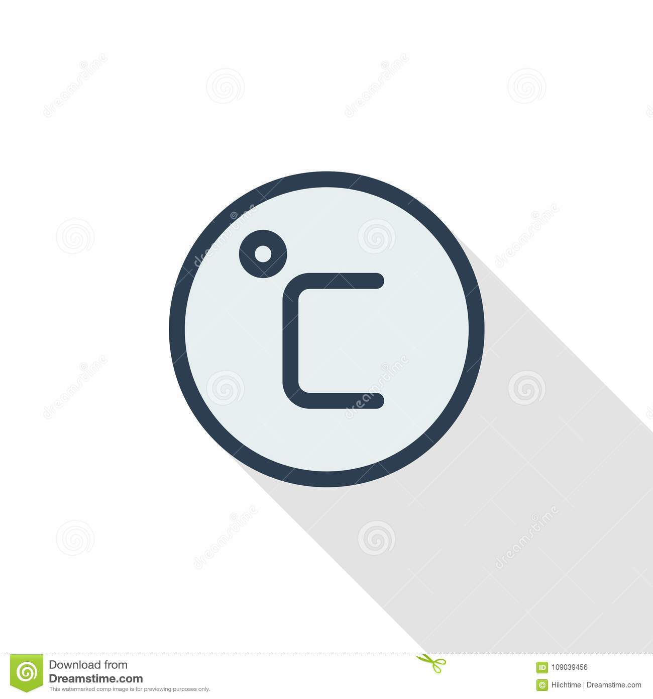 Degree celsius thin line flat color icon linear vector symbol degree celsius thin line flat color icon linear vector symbol colorful long shadow design biocorpaavc Choice Image