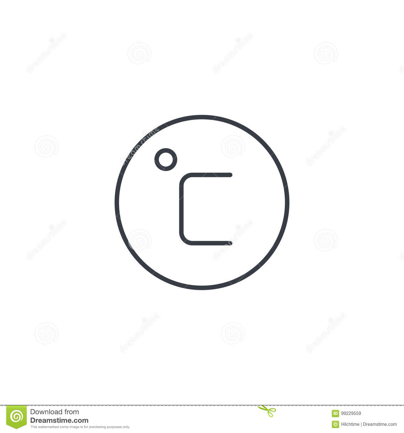 Degree celsius thin line icon linear vector symbol stock vector degree celsius thin line icon linear vector symbol biocorpaavc Choice Image