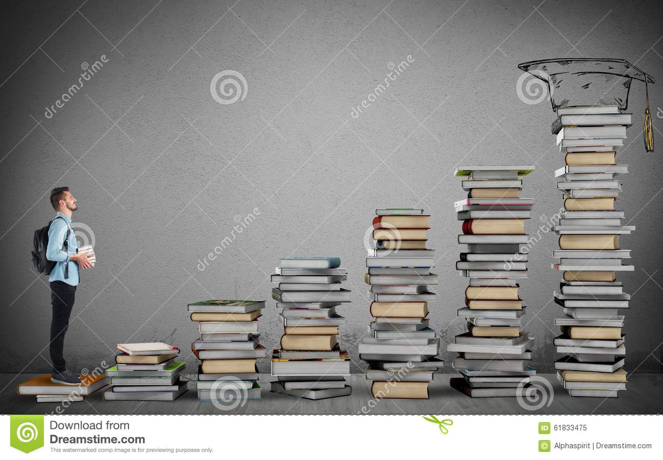 Degree course stock illustration. Illustration of literature ... for Student Climbing Ladder  146hul