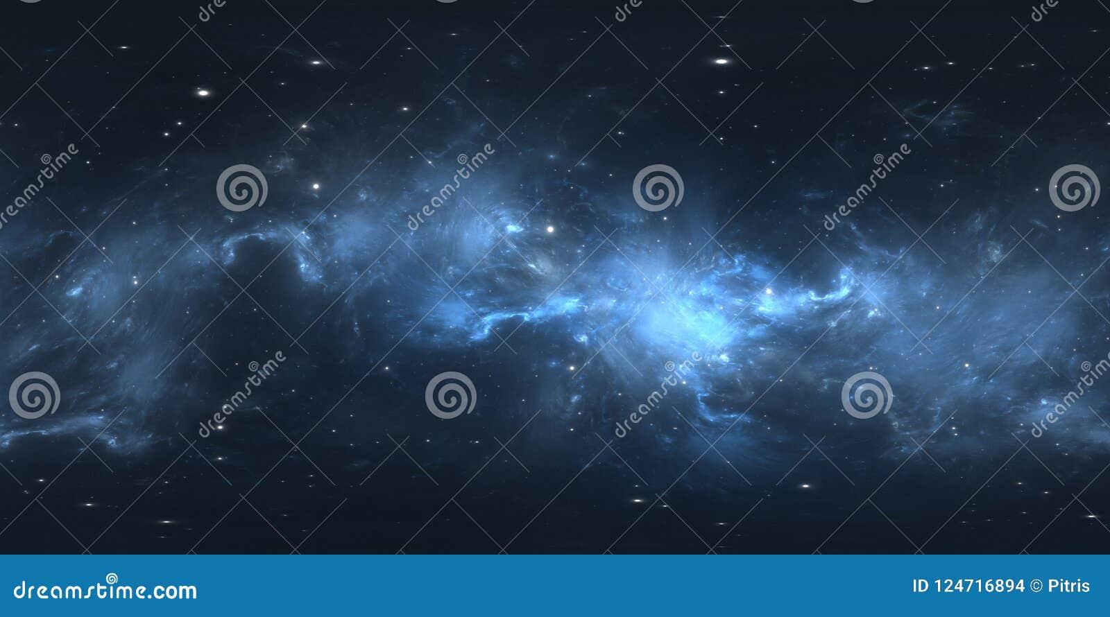 360 Degree Space Nebula Panorama, Equirectangular Projection