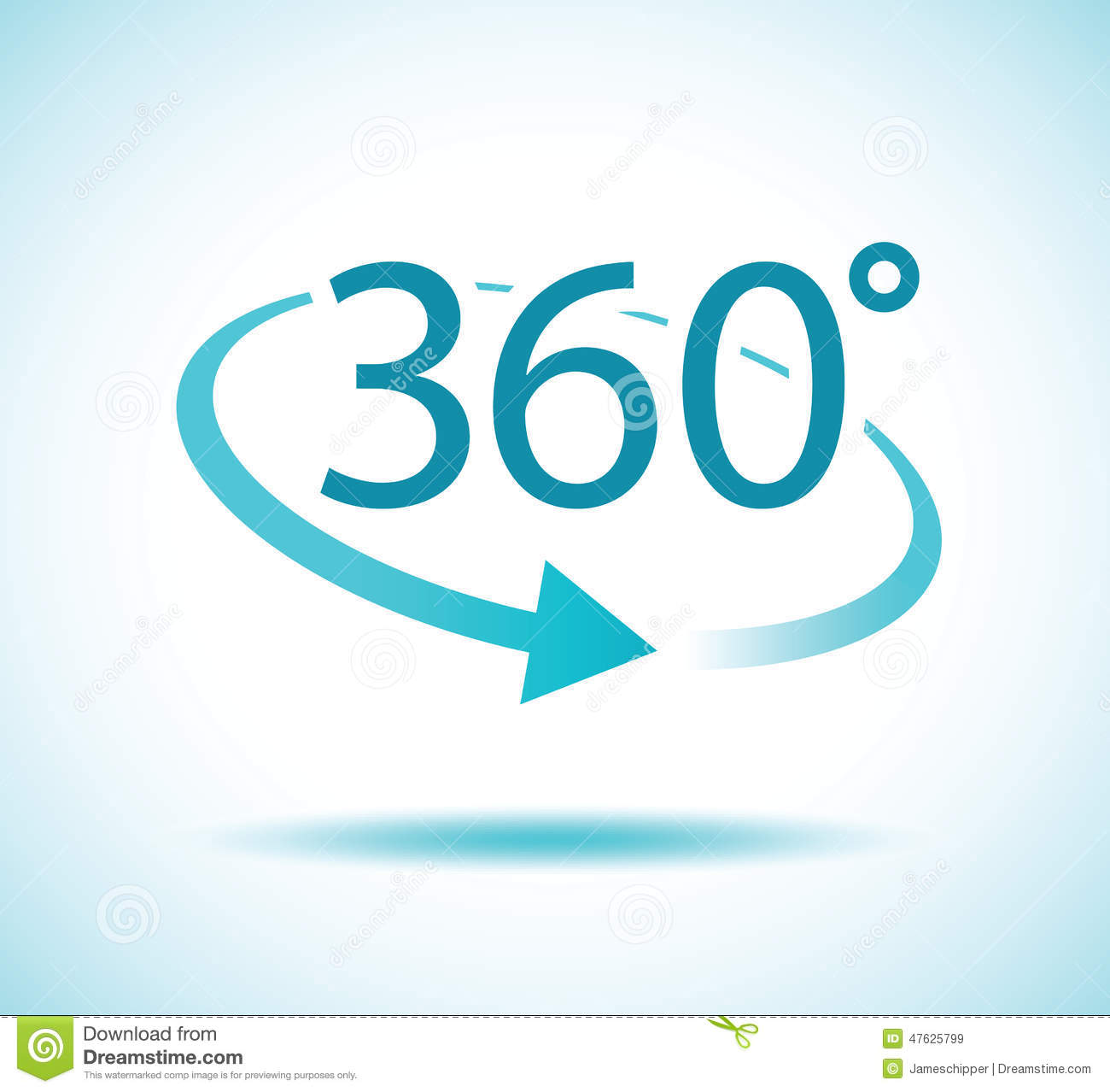 360 Degree Turn Stock Illustration - Image: 47625799