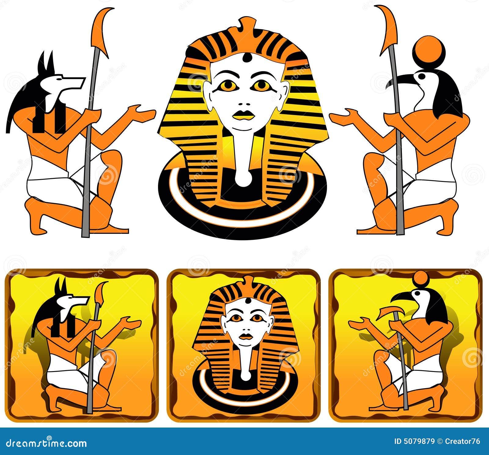 Dei dell Egiziano delle mattonelle