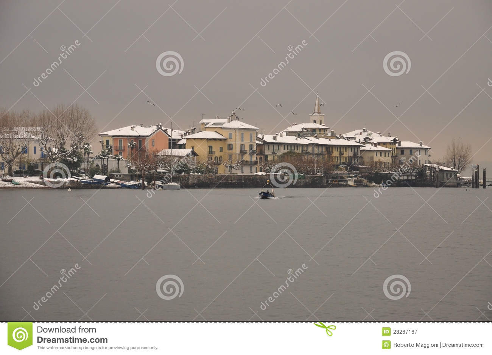 Dei Pescatori de Isola no inverno, lago Maggiore, Italia