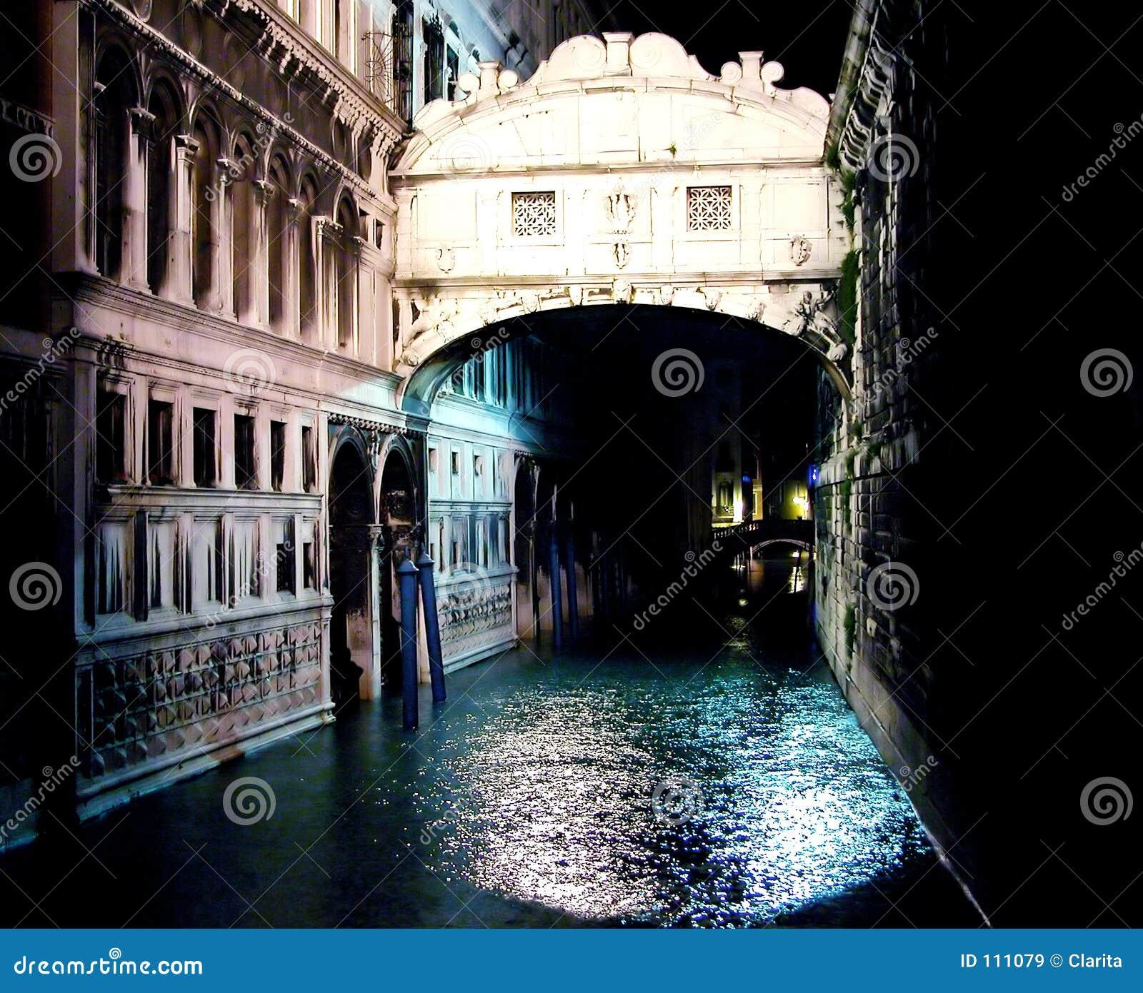 Dei sospiri di ponte entro la notte immagine stock for Disegni di ponte anteriore