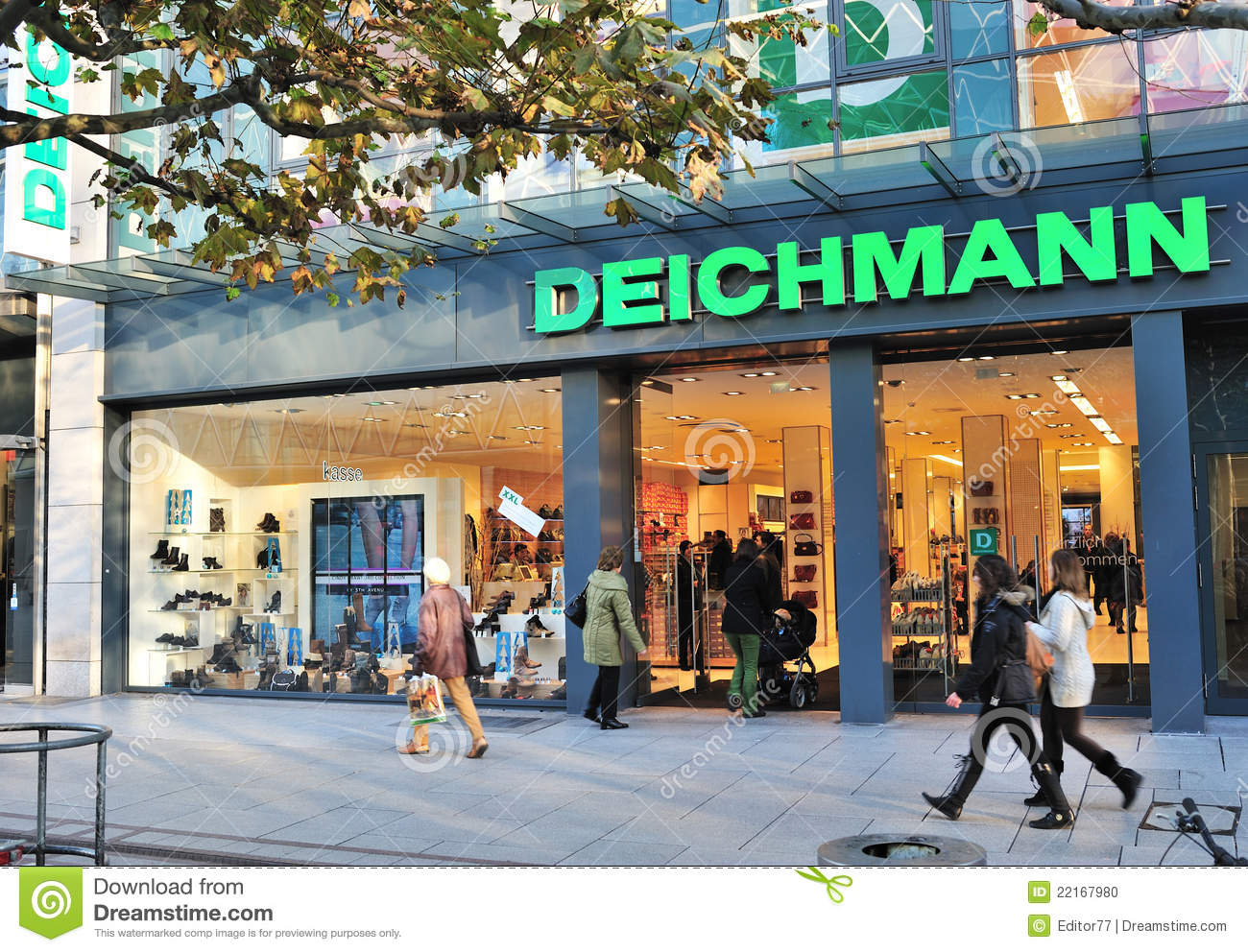 deichmann fashion store in frankfurt editorial image image 22167980. Black Bedroom Furniture Sets. Home Design Ideas