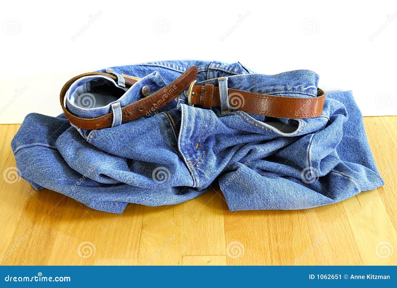 Deixe cair suas calças de brim