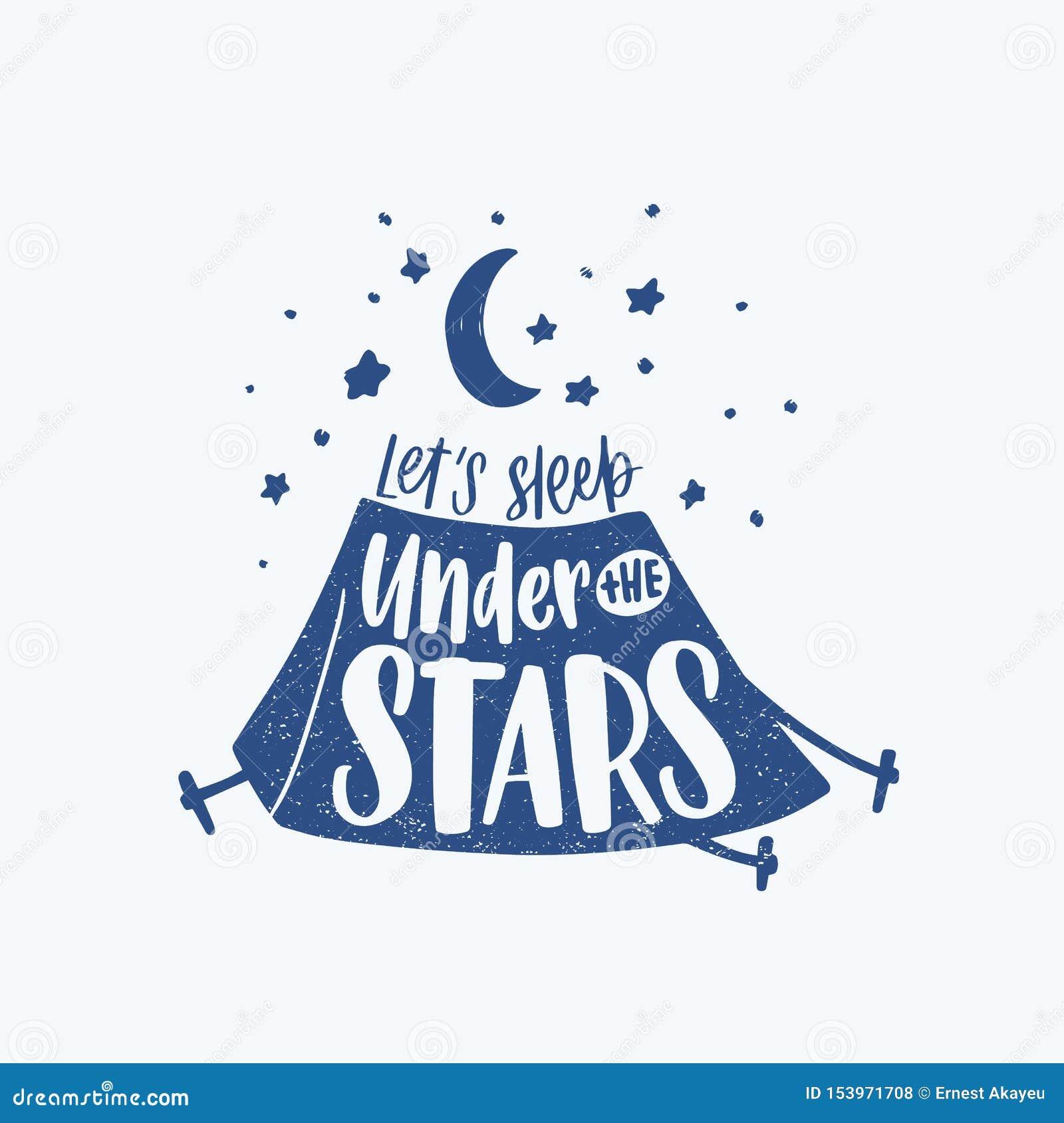 Deixe Nos Dormir Sob A Frase O Slogan Ou O Texto Inspirador